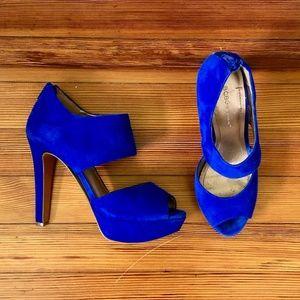 BCBGeneration Helara Suede Heel Sandal Size 7